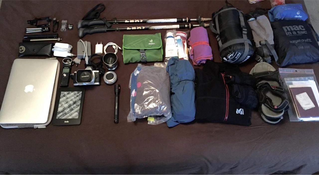 Meine WeWalkNow Lifehacker-Packing-Liste