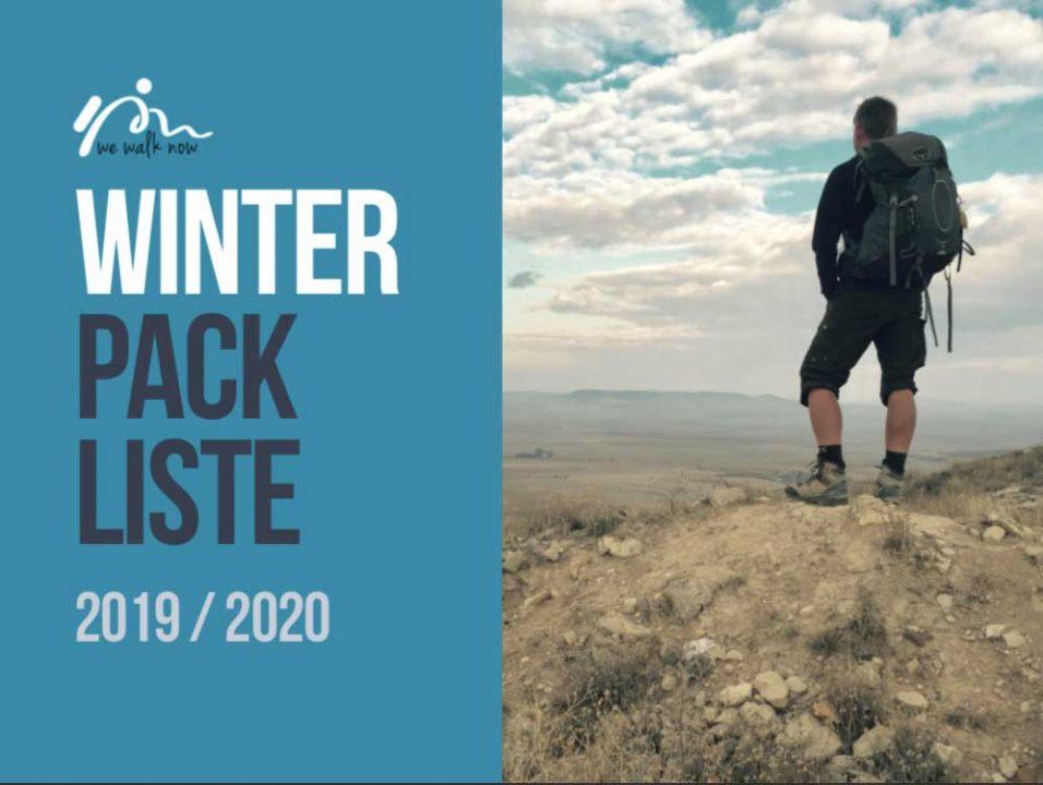 winter packliste für den jakobsweg